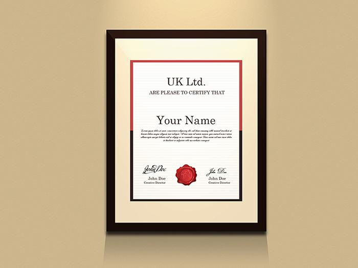 Certificate Frame Mockup (Free PSD)