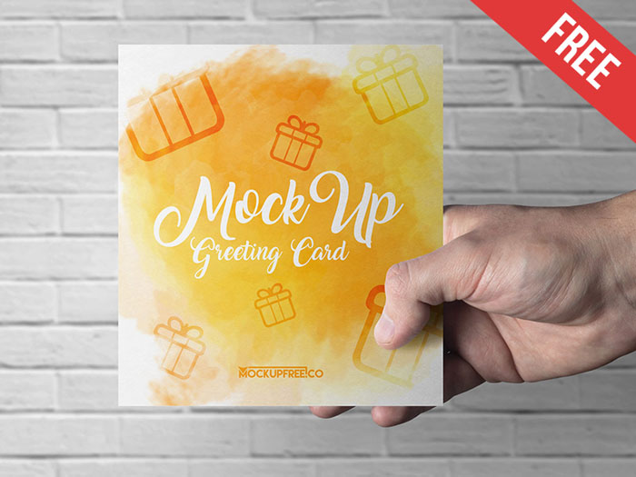 Greeting Card—3 Free PSD Template
