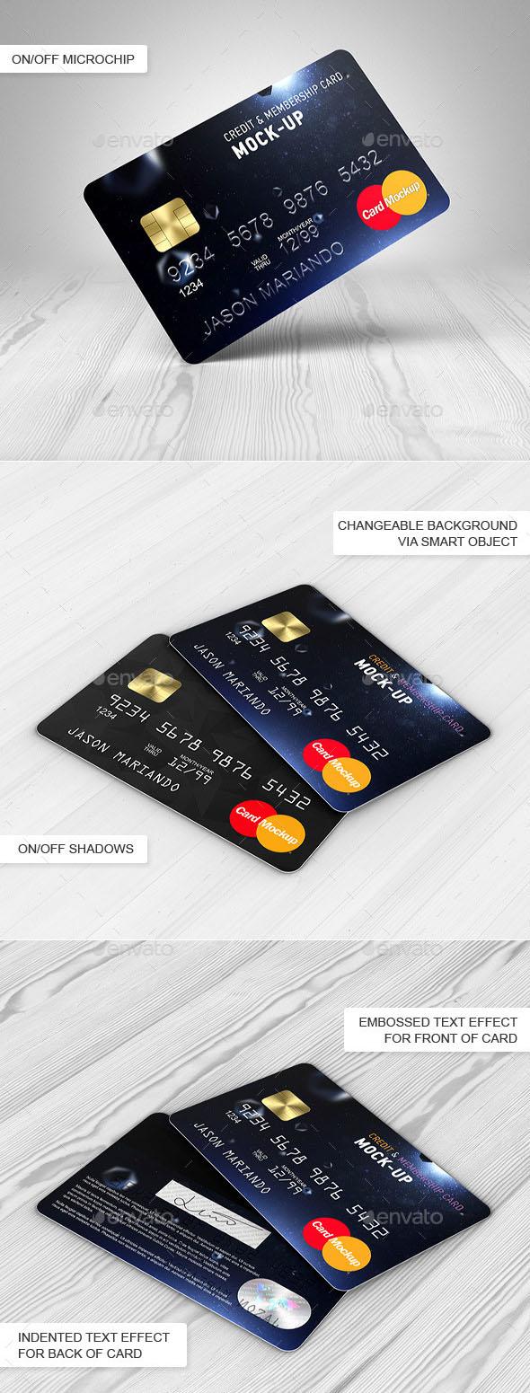 Premium Credit / Bank Card Mock-Up