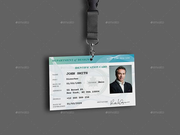 Professional ID Card Mockup