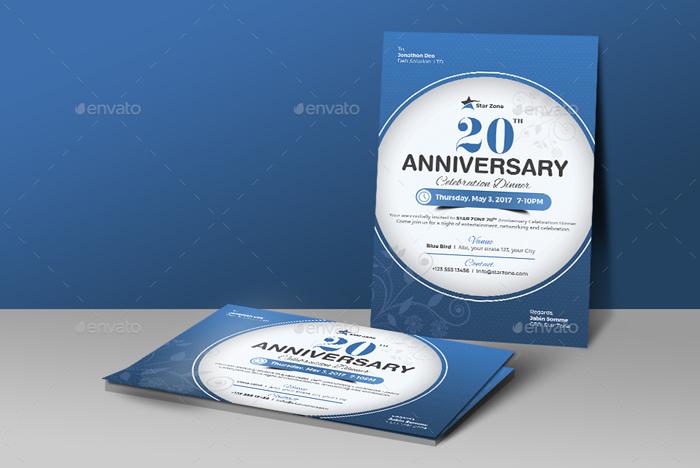 12. Anniversary Invitation Card