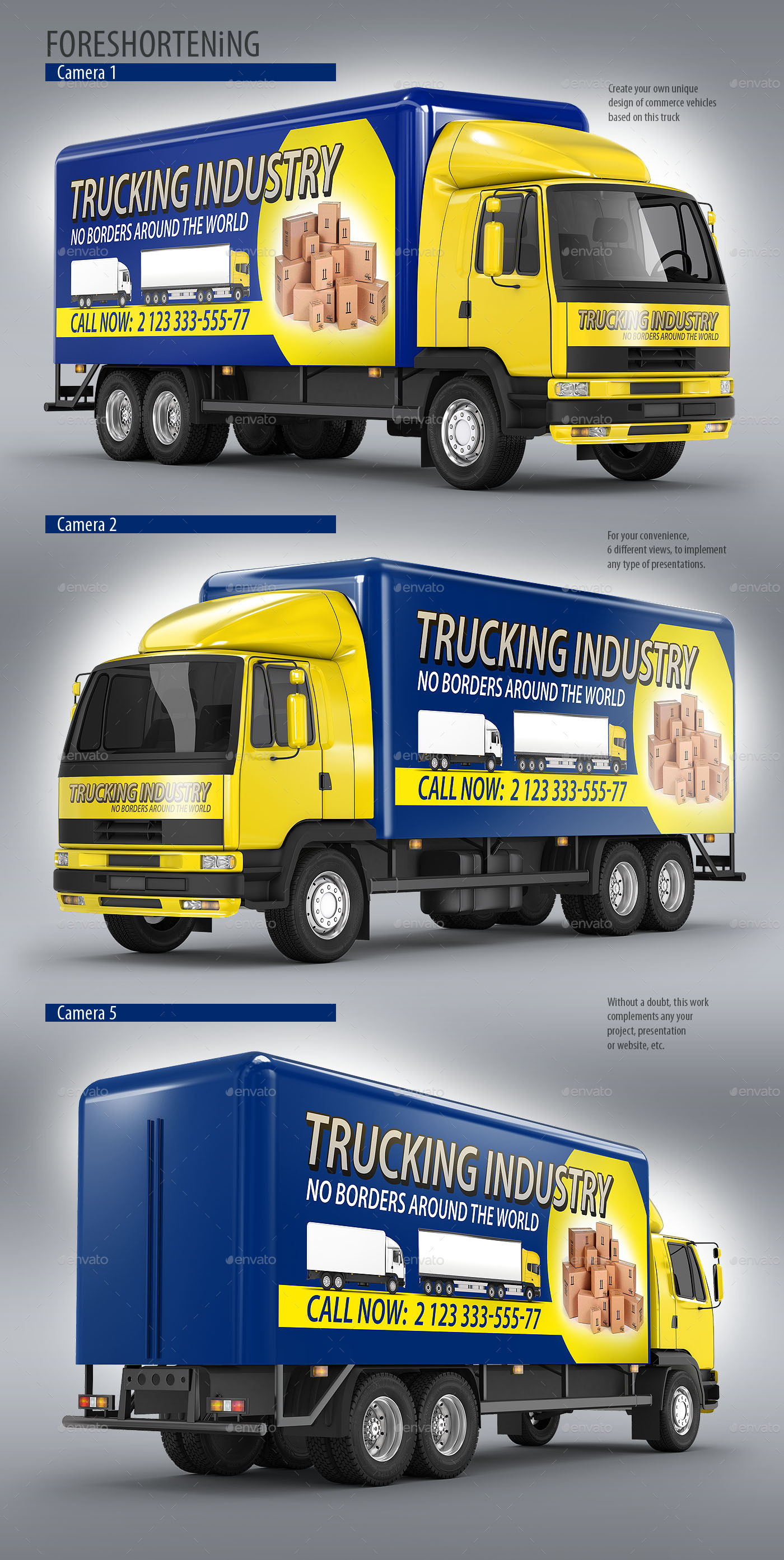Commercially Branded Truck Mockup