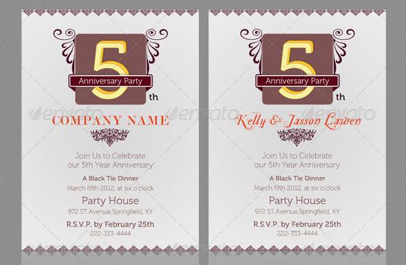 Anniversary Invitation Template_Vol.02