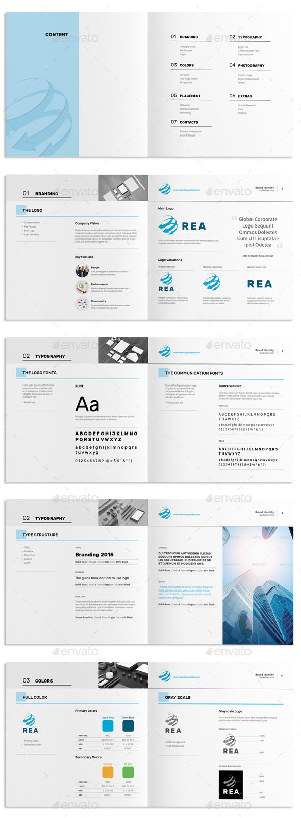 Brand Identity Guidelines Square Brochure