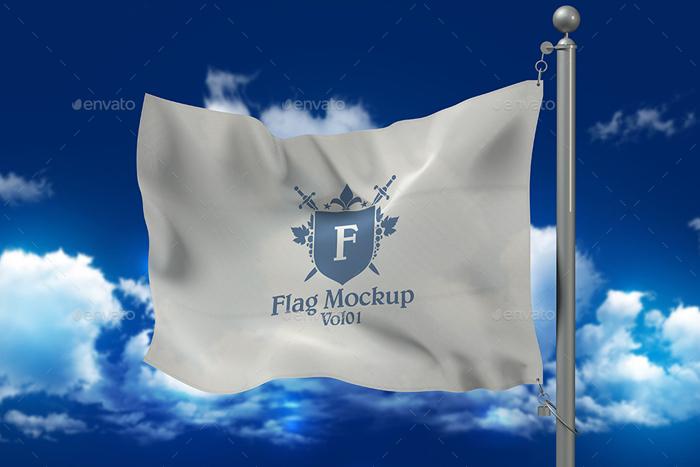 Premium 8 Flags Mock Ups