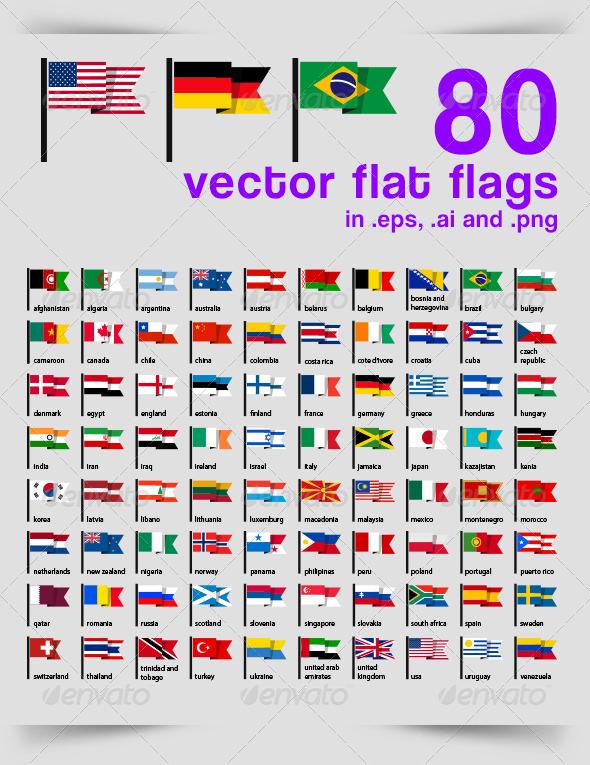 80 Vector Flat Flag