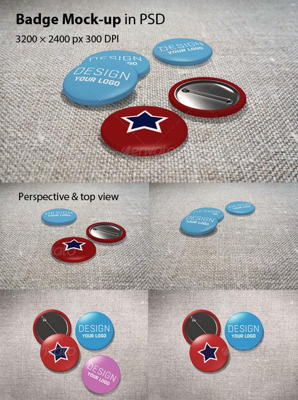 Premium Badge Mockup