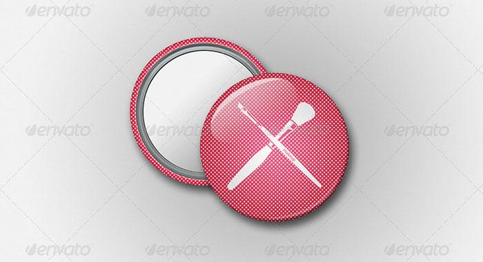 Mirror Button Badge Mockup