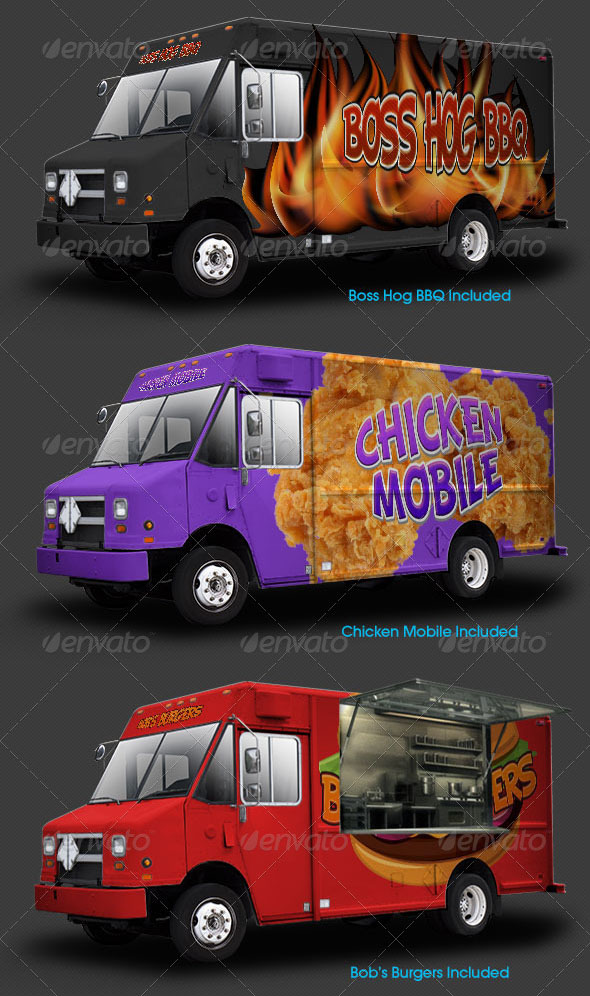 High Definition Food Truck Mockup