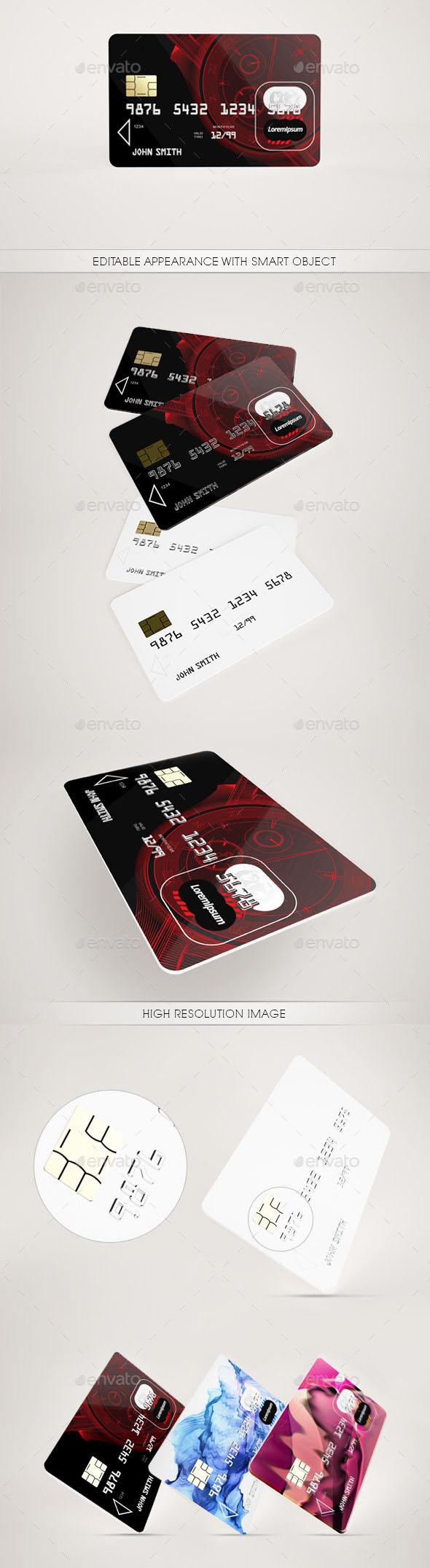Poster Design Credit Card Mock Up