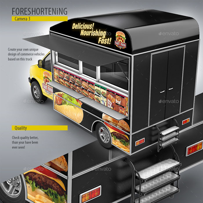 Food Truck Eatery Mockup (Custom Editable)