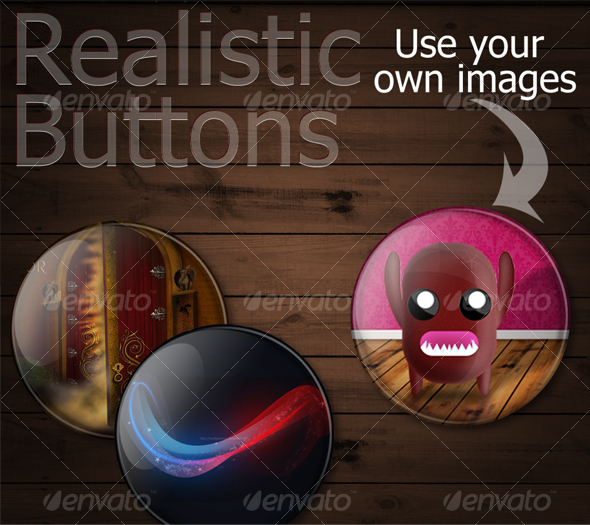 Premium Realistic Buttons/Pins