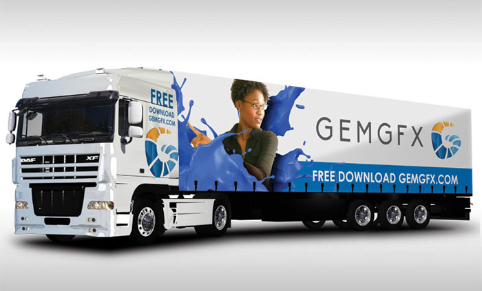 Free Semi Truck & Uniform Mockup