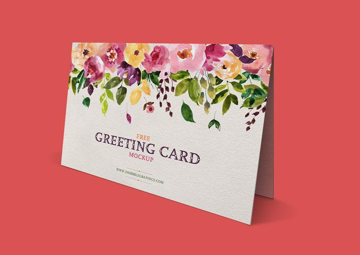 Free Standing Greeting Card Mockup