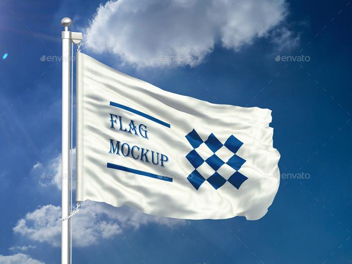 Premium Flag Mock-up