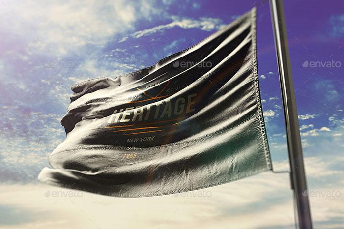Photorealistic Flag Mockups 02