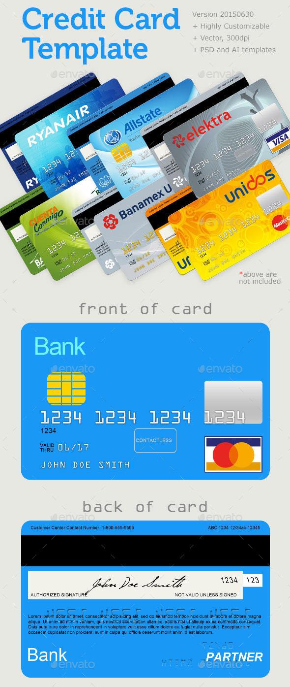 Premium Plastic Card Template