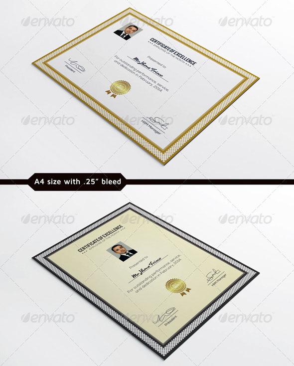 Clean Certificate Template