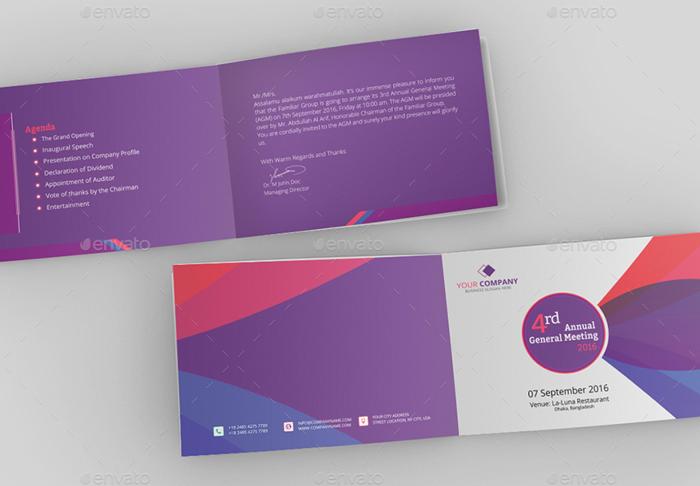 Corporate Annual Meeting Invitation Card