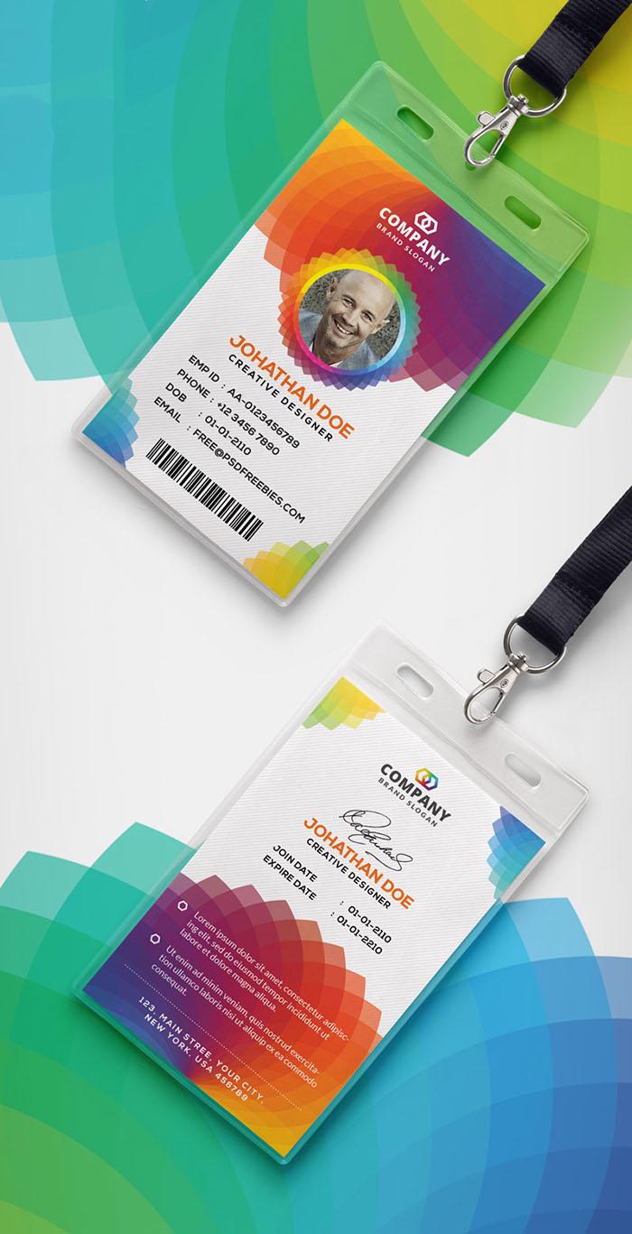 Modern Corporate ID Card Design