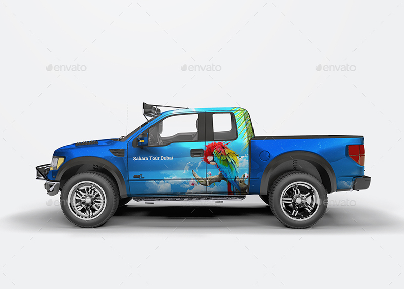 Pickup Wrapped Mockup
