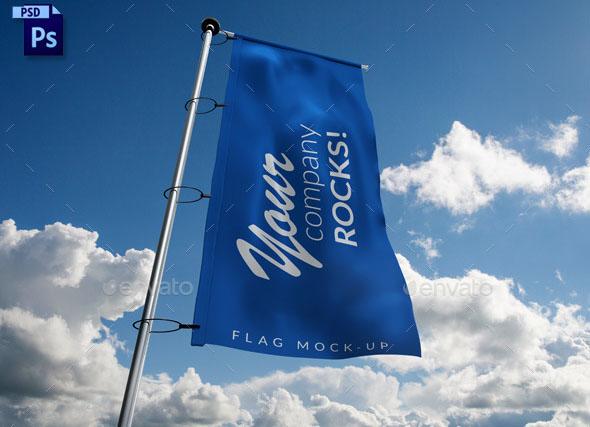 Photorealistic Flag Mockup