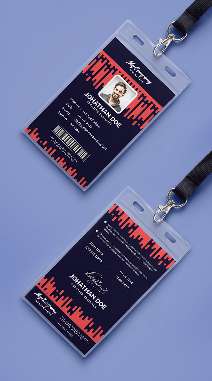30 best id card and lanyard templates psd vector free premium beautiful id card template altavistaventures Gallery