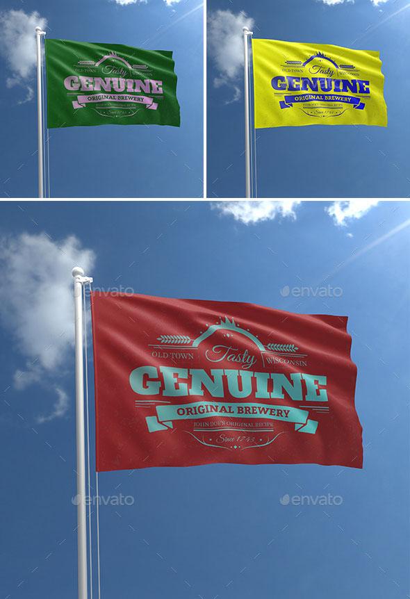 Realistic Flag Mock-Ups
