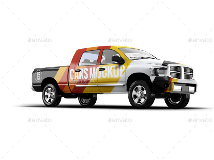 Variable Colored Pickup Mockup