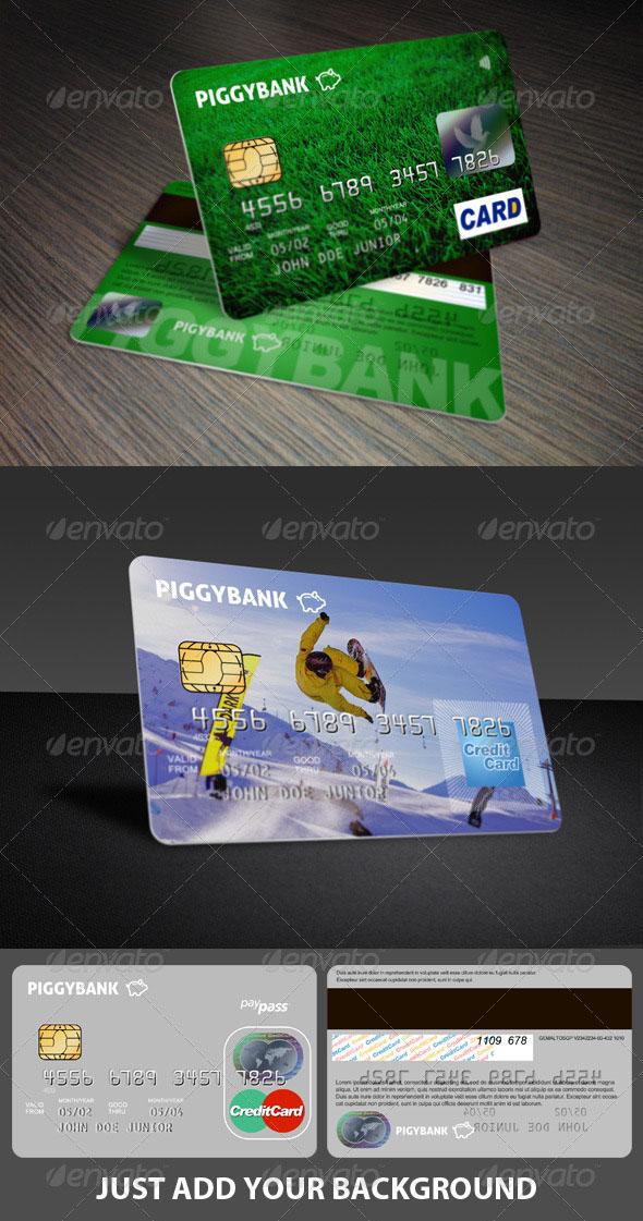 Premium Credit Cards Mockup