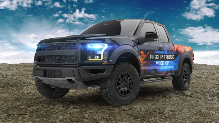 Stylish 4x4 Pickup Truck Mockup