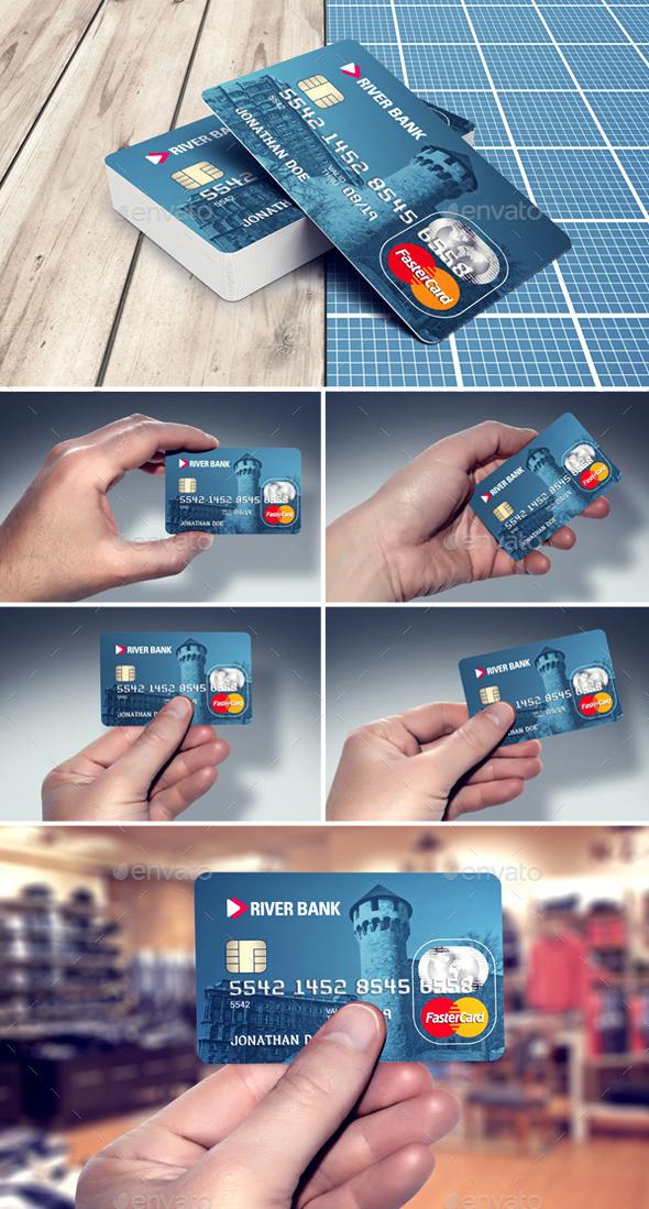 Credit / Bank Card Template & Mockup