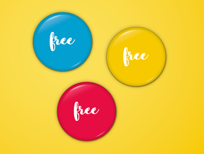 20 high quality pin button badges psd vector free for Design a button template free