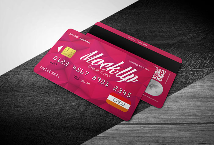 Free Credit Card Mock-Up in PSD
