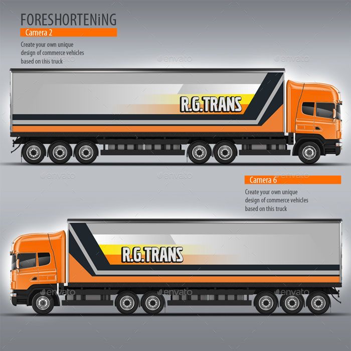 Road Train, Long Vehicle Mockup