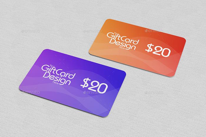 Gift Card Mock-Ups