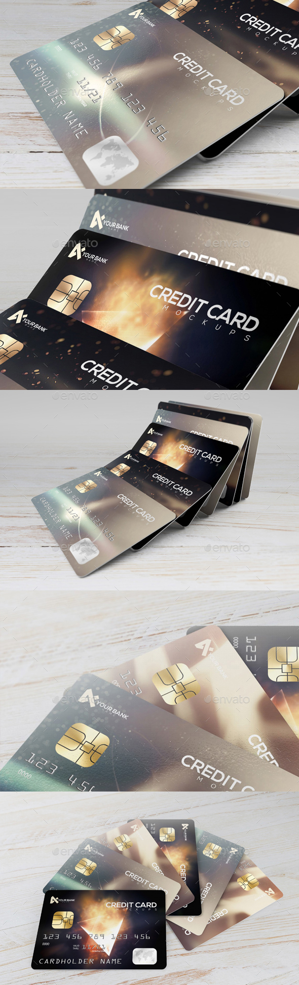 Premium Membership / Credit Cards Mockup