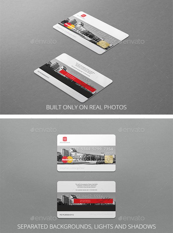 Photorealistic Bank Card Mockup