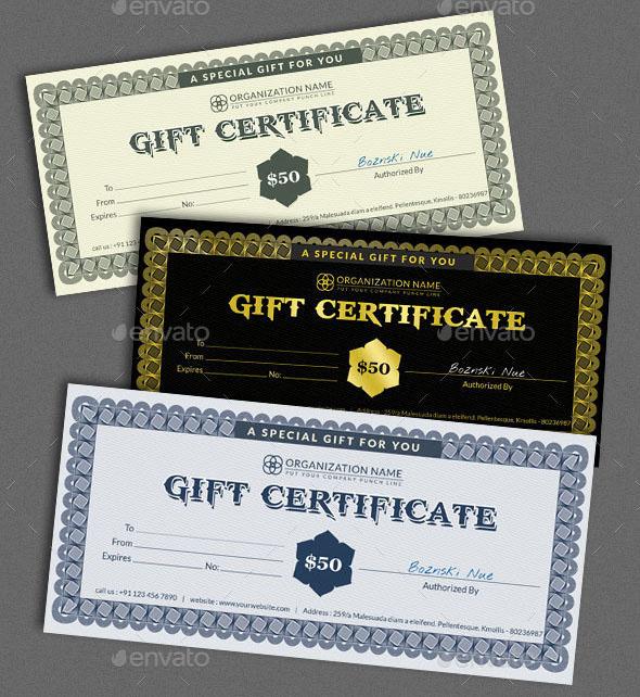 Premium Gift Certificate Template