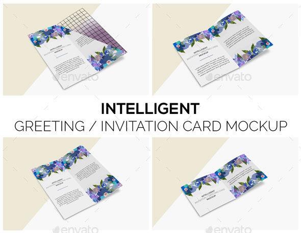 Intelligent Invitation/ Greeting Card Mock-Up