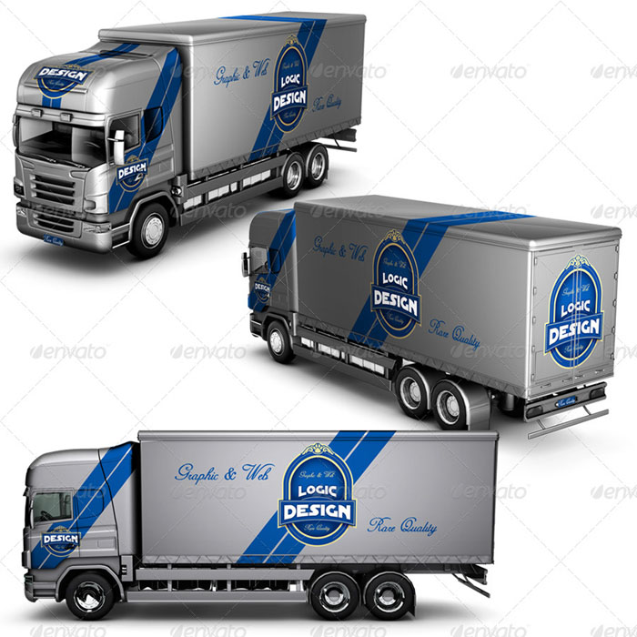 Truck Simple Mockup (Medium sized)