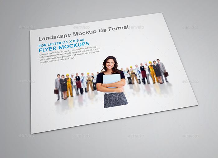 Landscape US Letter Flyer Mockup