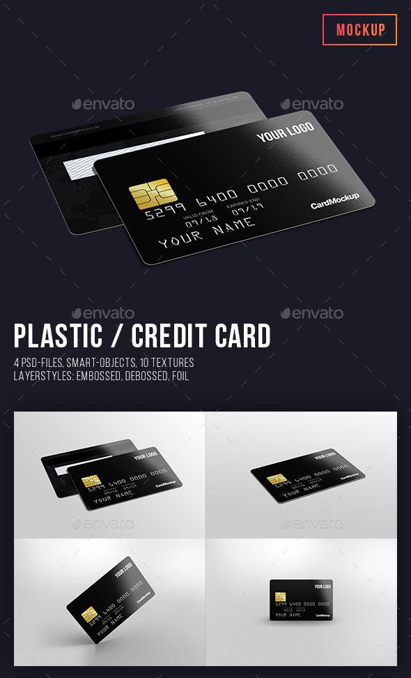 40 photorealistic credit card mockups psd vector download plasticcredit card mockup reheart Gallery