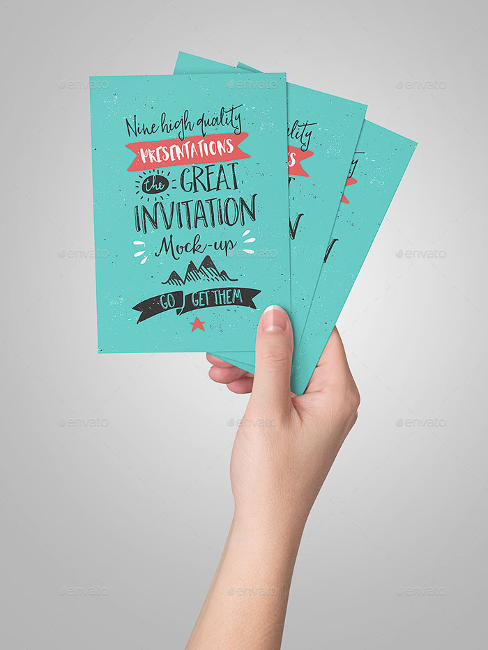 Invitation/Greeting Card Mock-Up