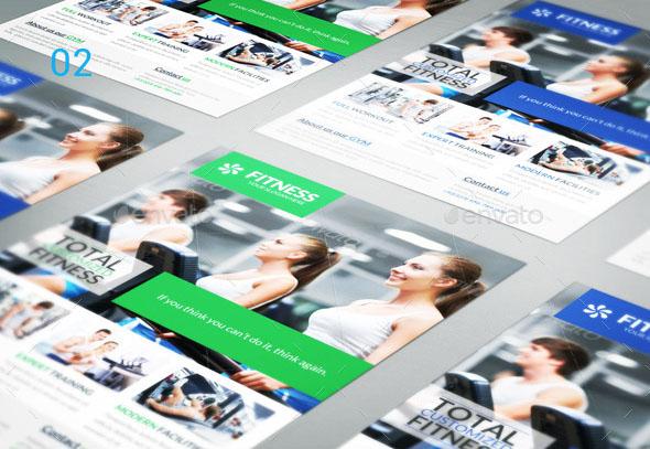 Flat Design Flyer Mockups