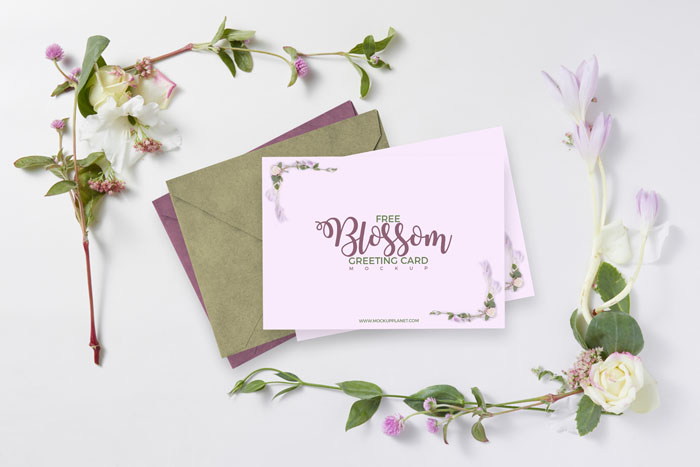 Blossom Greeting Card Template