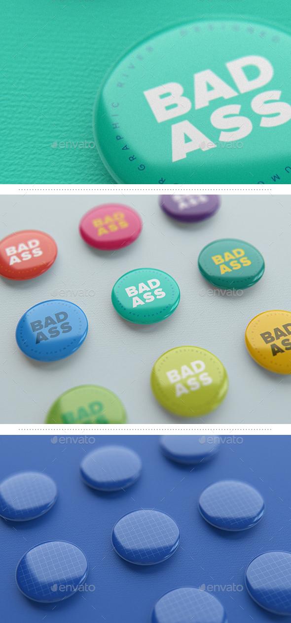 Pin Buttons Template Vol. 1
