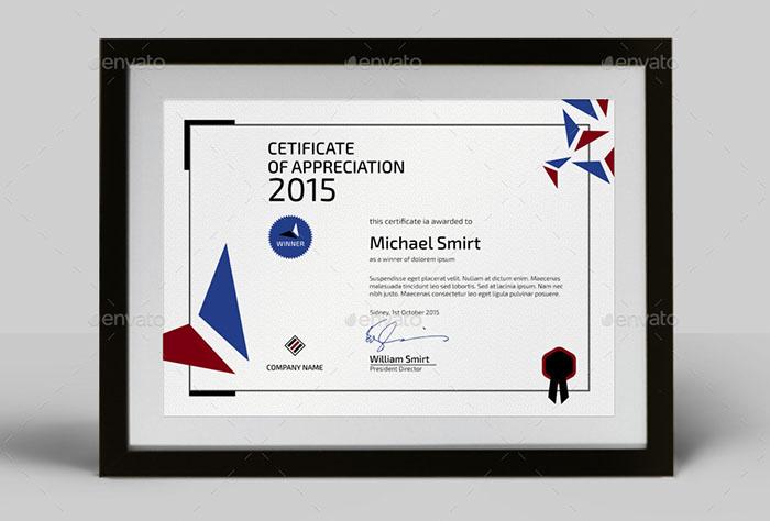 Premium Modern Certificate Template