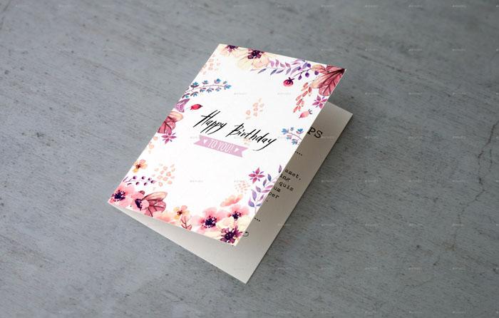 Invitation and Greeting Card Mock-Ups