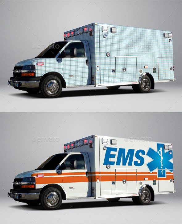 Ambulance WRAP Mockup